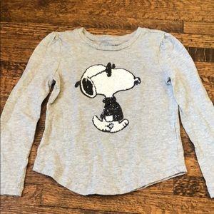 Gap Kids + Peanuts sequin snoopy tee